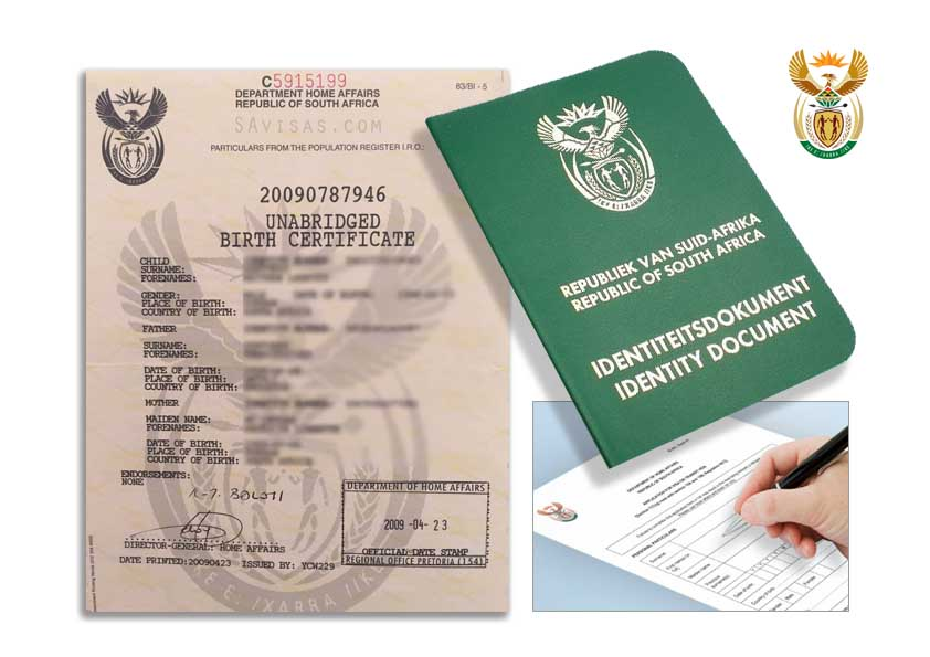 South Africa Unabridged Birth Certificates - Home Affairs ...